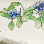 Blue Flower - Drawing Class